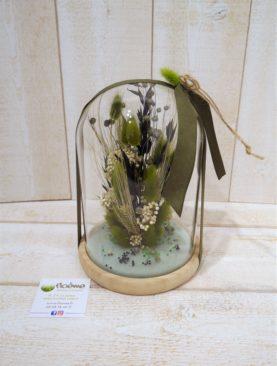 Aglaé globe de fleurs séchées